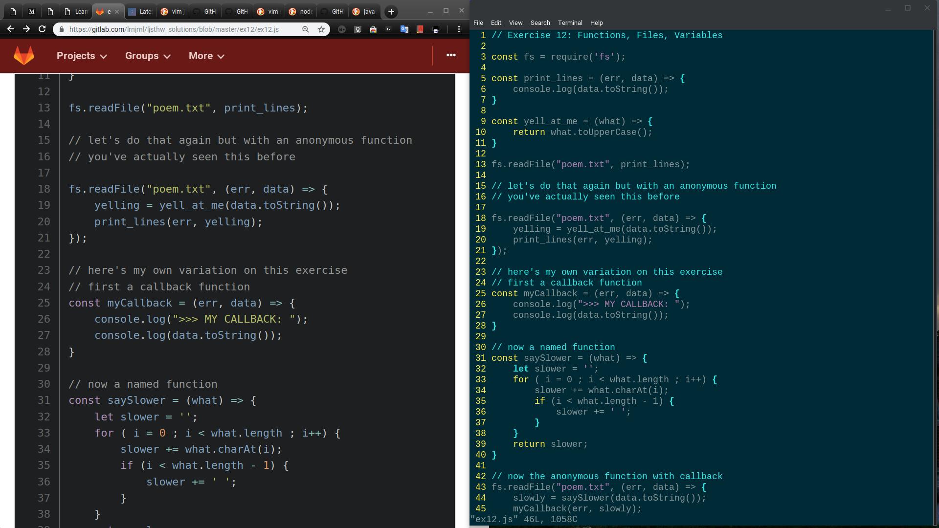 Syntax highlighting for JavaScript - Vim School - Learn Code Forum